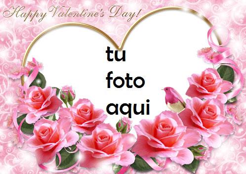 Una Imagen De Una Rosa Rosa Y Tarjetas Rojas Para El Día De San Valentín Marco Para Foto - Una Imagen De Una Rosa Rosa Y Tarjetas Rojas Para El Día De San Valentín Marco Para Foto