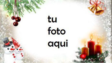 Photo of Velas De Año Nuevo Y Navidad Marco Para Foto