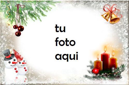 Velas De Año Nuevo Y Navidad Marco Para Foto - Velas De Año Nuevo Y Navidad Marco Para Foto
