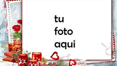 Velas Rojas Y Corazones Rojos Para Su Marco De Fotos En La Víspera De Año Nuevo Marco Para Foto 390x220 - Velas Rojas Y Corazones Rojos Para Su Marco De Fotos En La Víspera De Año Nuevo Marco Para Foto