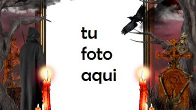 Photo of Verdadero Horror De Halloween Marco Para Foto