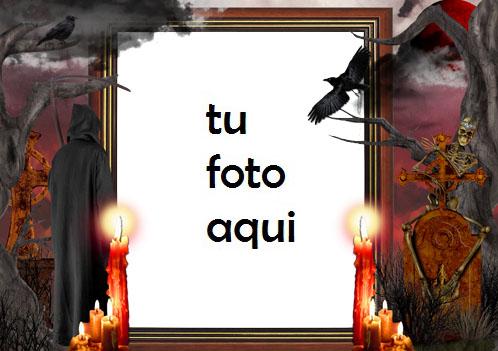 Verdadero Horror De Halloween Marco Para Foto - Verdadero Horror De Halloween Marco Para Foto