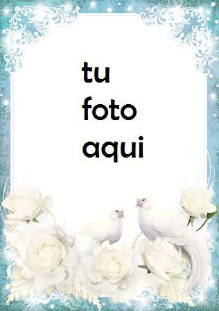 boda marcos Flores blancas de la boda marco para foto - boda marcos Flores blancas de la boda marco para foto