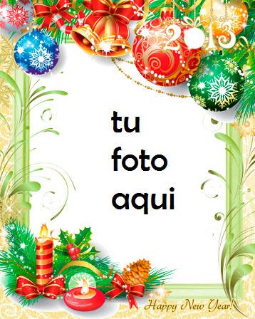 navidad marcos año nuevo con velas marco para foto - navidad marcos año nuevo con velas marco para foto
