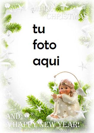 navidad marcos angelito te deseo unas felices fiestas marco para foto - navidad marcos angelito te deseo unas felices fiestas marco para foto