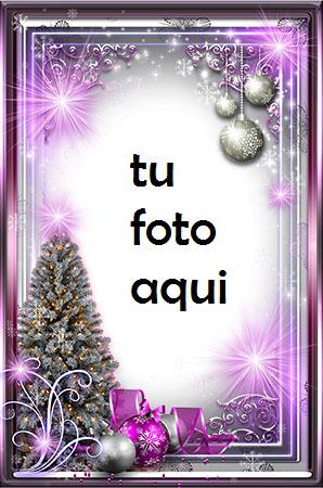 navidad marcos brillo morado de año nuevo marco para foto - navidad marcos brillo morado de año nuevo marco para foto