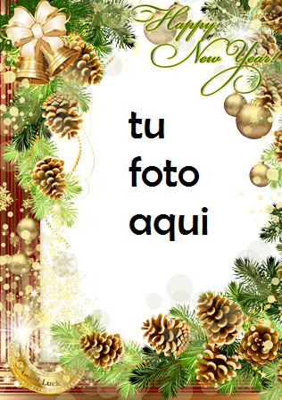 navidad marcos buena suerte en el año nuevo marco para foto - navidad marcos buena suerte en el año nuevo marco para foto