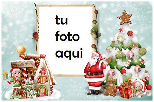 navidad marcos en el polo norte marco para foto - navidad marcos en el polo norte marco para foto