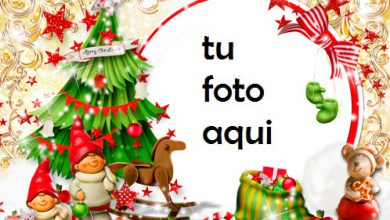 navidad marcos gnomos debajo del árbol de navidad marco para foto 390x220 - navidad marcos gnomos debajo del árbol de navidad marco para foto