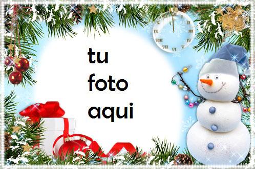 navidad marcos muñeco de nieve divertido marco para foto - navidad marcos muñeco de nieve divertido marco para foto
