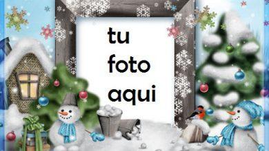 Photo of navidad marcos muñecos de nieve divertidos 2 marco para foto