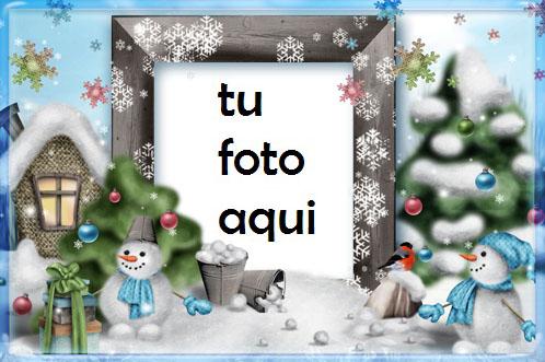 navidad marcos muñecos de nieve divertidos 2 marco para foto - navidad marcos muñecos de nieve divertidos 2 marco para foto
