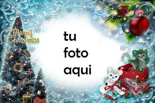 navidad marcos regalos bajo el árbol de navidad marco para foto - navidad marcos regalos bajo el árbol de navidad marco para foto