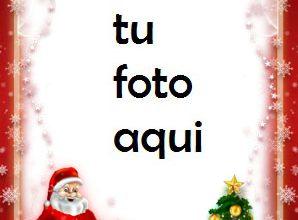 Photo of navidad marcos santa árbol de navidad y regalos marco para foto