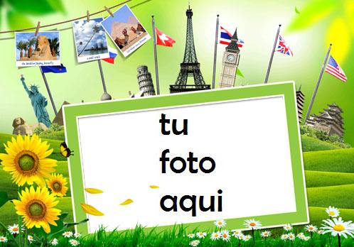 Marco Para Foto Alrededor Del Mundo Primavera Marcos - Marco Para Foto Alrededor Del Mundo Primavera Marcos