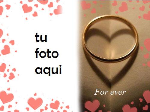Marco Para Foto Anillo Romántico Amor Marcos - Marco Para Foto Anillo Romántico Amor Marcos