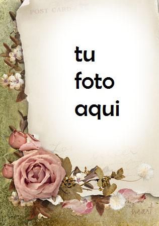 Marco Para Foto Carta Antigua Con Significado Romántico Amor Marcos - Marco Para Foto Carta Antigua Con Significado Romántico Amor Marcos