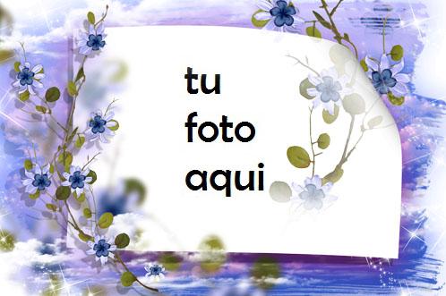 Marco Para Foto Cielo No Me Olvides Flores Amor Marcos - Marco Para Foto Cielo No Me Olvides Flores Amor Marcos