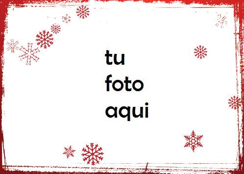 Marco Para Foto Copos De Nieve Roja Amor Marcos - Marco Para Foto Copos De Nieve Roja Amor Marcos