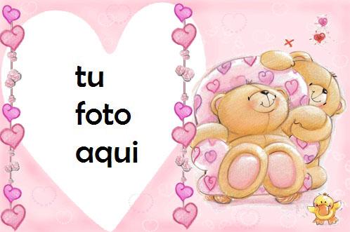 Marco Para Foto Corazones De Osito De Peluche Amor Marcos - Marco Para Foto Corazones De Osito De Peluche Amor Marcos