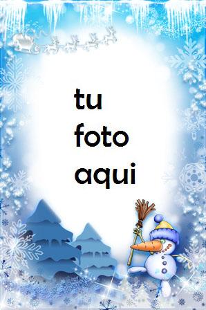 Marco Para Foto Cuento De Hadas Azul 2 Invierno Marcos 1 - Marco Para Foto Cuento De Hadas Azul 2 Invierno Marcos