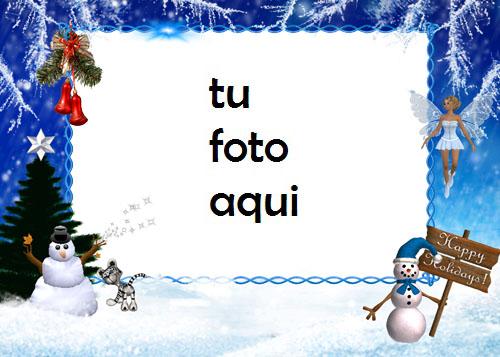 Marco Para Foto Felices Fiestas 2 Invierno Marcos 1 - Marco Para Foto Felices Fiestas 2 Invierno Marcos