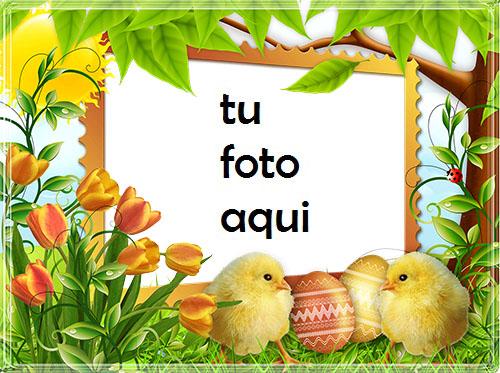 Marco Para Foto Felices Pascuas Con Chicas Lindas Primavera Marcos - Marco Para Foto Felices Pascuas Con Chicas Lindas Primavera Marcos