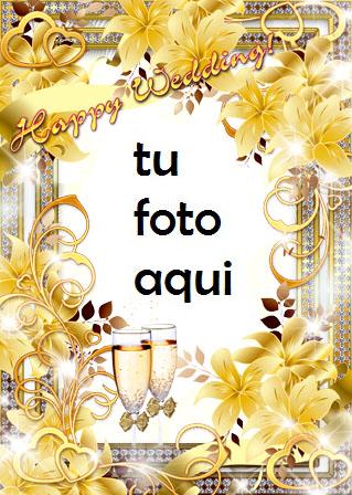 Marco Para Foto Feliz Boda Amor Marcos - Marco Para Foto Feliz Boda Amor Marcos