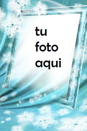 Marco Para Foto Flores De Nieve Invierno Marcos 1 - Marco Para Foto Flores De Nieve Invierno Marcos