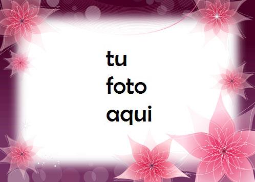 Marco Para Foto Flores De Primavera De Neón Amor Marcos - Marco Para Foto Flores De Primavera De Neón Amor Marcos