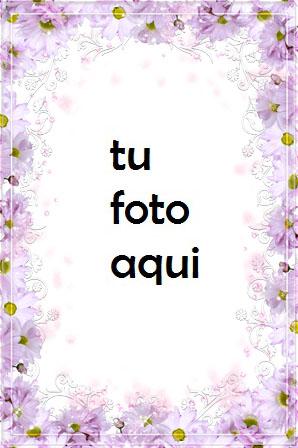 Marco Para Foto Flores Magenta Amor Marcos - Marco Para Foto Flores Magenta Amor Marcos
