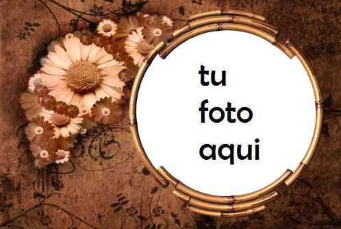 Marco Para Foto Flores Retro Amor Marcos - Marco Para Foto Flores Retro Amor Marcos
