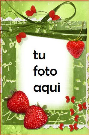 Marco Para Foto Fresas Jugosas Amor Marcos - Marco Para Foto Fresas Jugosas Amor Marcos