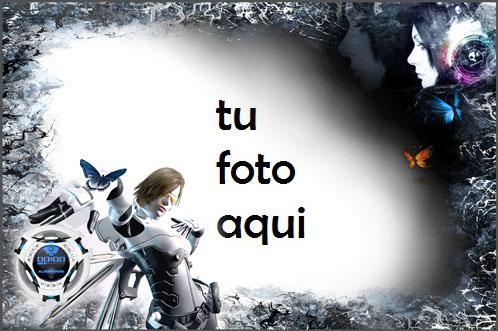 Marco Para Foto Futurista En Blanco Y Negro Variedad Marcos - Marco Para Foto Futurista En Blanco Y Negro Variedad Marcos