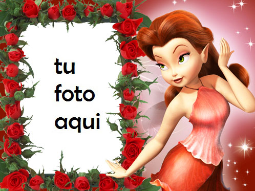 Marco Para Foto Hada Roja Amor Marcos - Marco Para Foto Hada Roja Amor Marcos