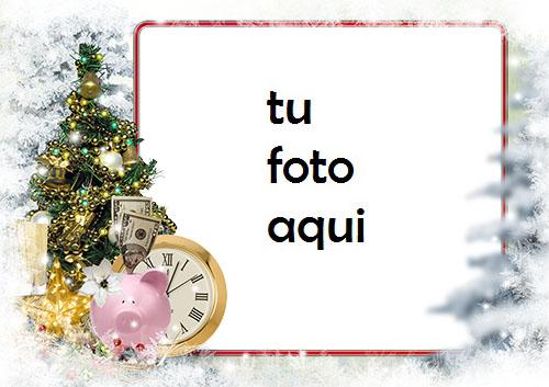 Marco Para Foto Hucha Bajo El Árbol De Año Nuevo Invierno Marcos 1 - Marco Para Foto Hucha Bajo El Árbol De Año Nuevo Invierno Marcos