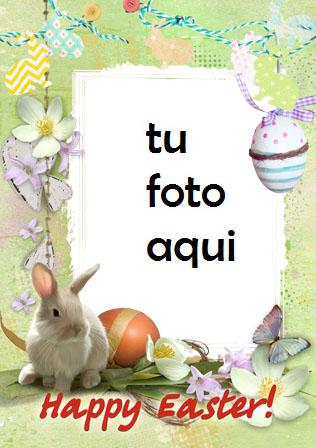 Marco Para Foto Lindo Conejito De Pascua Primavera Marcos - Marco Para Foto Lindo Conejito De Pascua Primavera Marcos