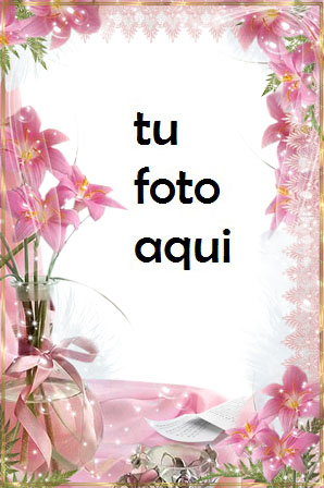 Marco Para Foto Lirios Rosados Amor Marcos - Marco Para Foto Lirios Rosados Amor Marcos