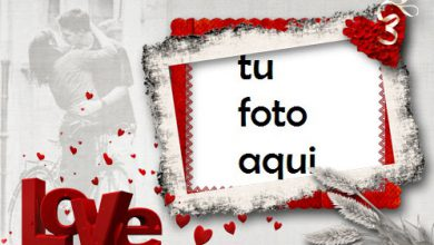 Photo of Marco Para Foto Locura De Amor Rojo Amor Marcos