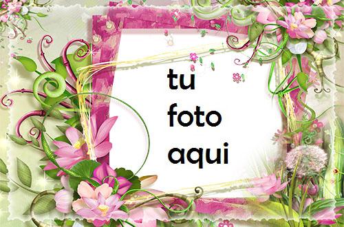 Marco Para Foto Marco De Fotos Con Flores Rosas Y Verdes Amor Marcos - Marco Para Foto Marco De Fotos Con Flores Rosas Y Verdes Amor Marcos