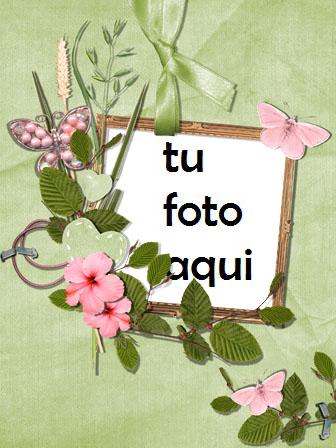 Marco Para Foto Mariposas Rosas Amor Marcos - Marco Para Foto Mariposas Rosas Amor Marcos