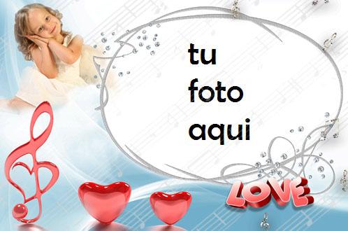 Marco Para Foto Melodía De Corazones Amor Marcos - Marco Para Foto Melodía De Corazones Amor Marcos