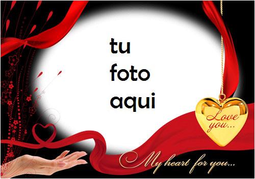 Marco Para Foto Mi Corazón Para Ti Amor Marcos - Marco Para Foto Mi Corazón Para Ti Amor Marcos