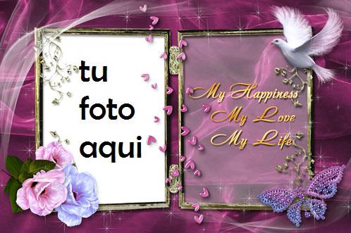Marco Para Foto Mi Felicidad Amor Marcos - Marco Para Foto Mi Felicidad Amor Marcos