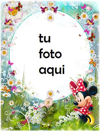 Marco Para Foto Minnie Mouse Y Manzanillas Primavera Marcos - Marco Para Foto Minnie Mouse Y Manzanillas Primavera Marcos
