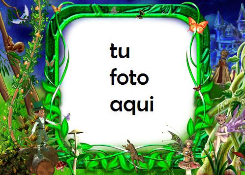 Marco Para Foto Mundo De Hadas Primavera Marcos - Marco Para Foto Mundo De Hadas Primavera Marcos