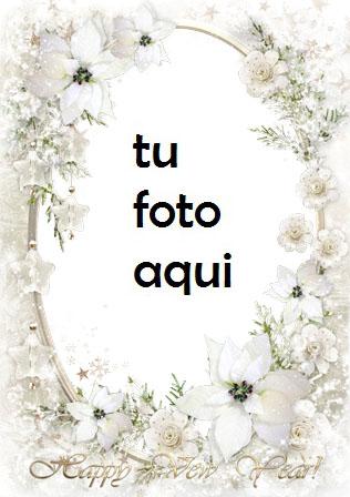 Marco Para Foto Nieve Plateada En El Año Nuevo Amor Marcos - Marco Para Foto Nieve Plateada En El Año Nuevo Amor Marcos
