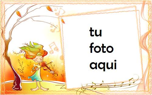 Marco Para Foto Otoño Musical Amor Marcos - Marco Para Foto Otoño Musical Amor Marcos