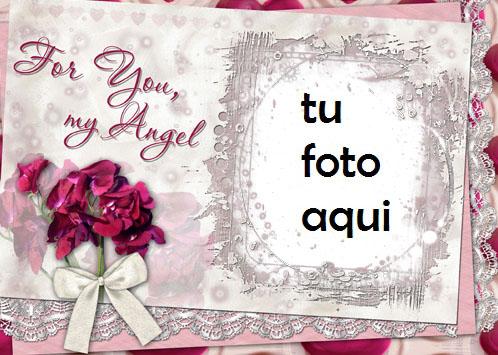 Marco Para Foto Para Ti Mi Angel Amor Marcos - Marco Para Foto Para Ti Mi Angel Amor Marcos