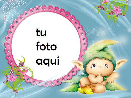 Marco Para Foto Pequeño duende 2 Niños Marcos - Marco Para Foto Pequeño duende 2 Niños Marcos